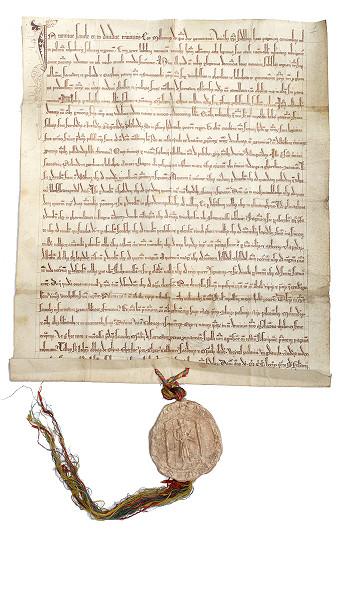Przywilej księcia Mściwoja II z 1279 r. dla cysterek z Żarnowca. Archiwum Państwowe w Gdańsku.