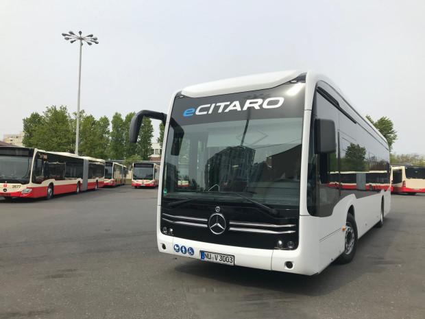 Elektryczny Mercedes eCitaro był na testach w Gdańsku.