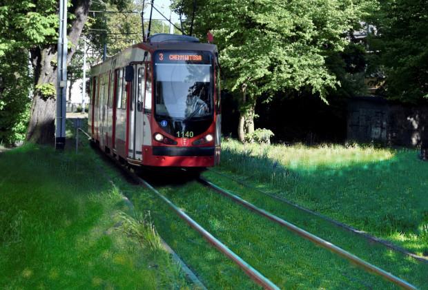 Jedną z zalet zielonego torowiska jest tłumienie hałasu generowanego przez przejeżdżający tramwaj.