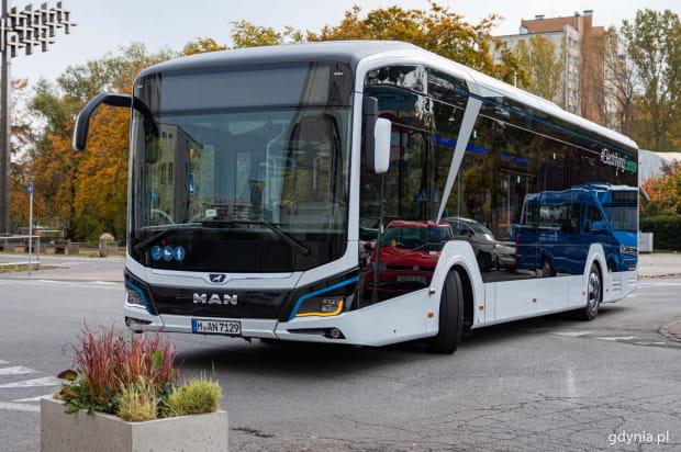 W Gdyni testowano elektrycznego MAN'a Lion's City E.