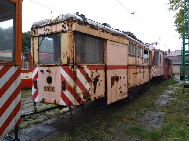 Modernizacji ma zostać poddany wagon gospodarczy nr 9016 stojący w zajezdni Nowy Port.