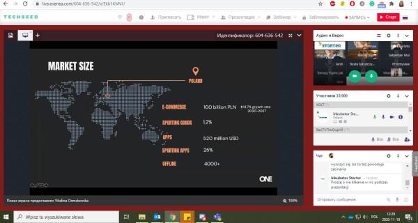 Projekt preakceleracji Techseed.me był realizowany w formule on-line.