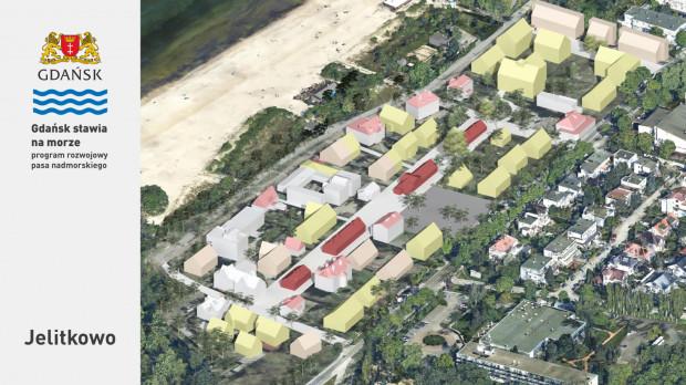 Zabudowa Jelitkowa ma zostać dogęszczona. Pieniądze ze sprzedaży gruntów zostaną przeznaczone m.in. na rewitalizację dawnej wioski rybackiej, która stanie się nowym centrum dzielnicy.