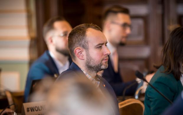 Karol Ważny, radny KO i przewodniczący Komisji doraźnej ds. Reformy Jednostek Pomocniczych.