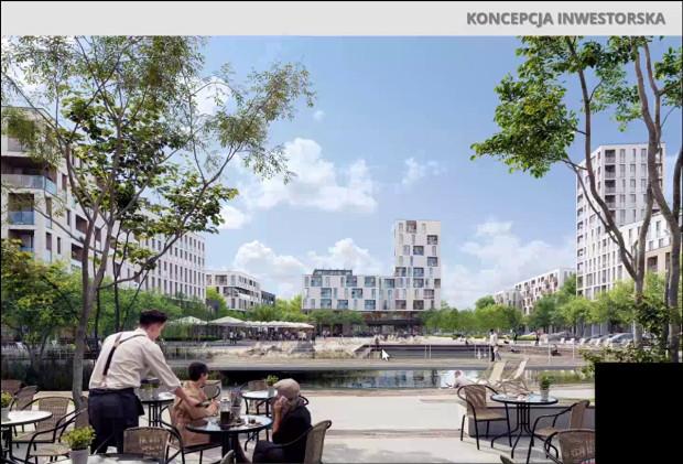 Koncepcja zabudowy wzdłuż ul. Uczniowskiej złożona przez GIWK w ramach wniosku o sporządzenie planu.