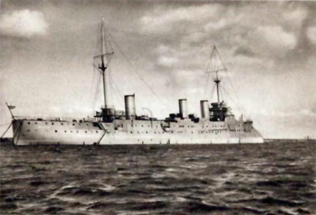 """ORP """"Bałtyk"""" na zdjęciu z I połowy lat 30."""