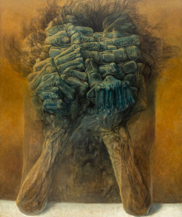 Obraz Zdzisława Beksińskiego został sprzedany za imponującą kwotę ponad 737 tys. złotych.