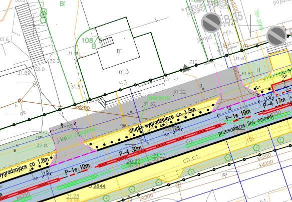 Zaplanowanie przy samej jezdni słupków wygradzających sprawi, że auta będą przejeżdżały przez chodnik i parkowały bezpośrednio przed budynkami.