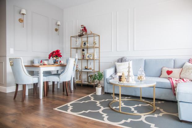 Wnętrze mieszkania Adrianny i Pawła zostało urządzone w stylu Hamptons.