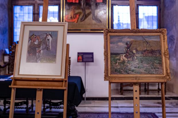 Pierwszy obraz przedstawia żołnierza napoleońskiego na koniu, drugi ułana z 3. Pułku Ułanów Śląskich.