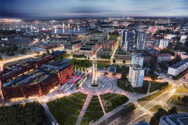 Inwestycja Doki w pełnej krasie - nowe budynki mieszkalne i biurowe na terenie Młodego Miasta.