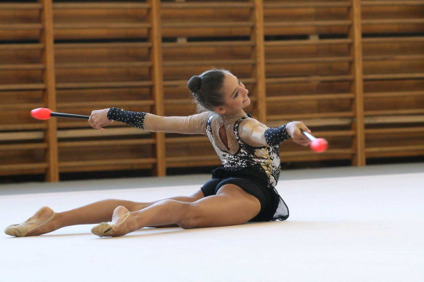 Malwina Kozłowska była gwiazdą mistrzostw Polski juniorek w gimnastyce artystycznej.