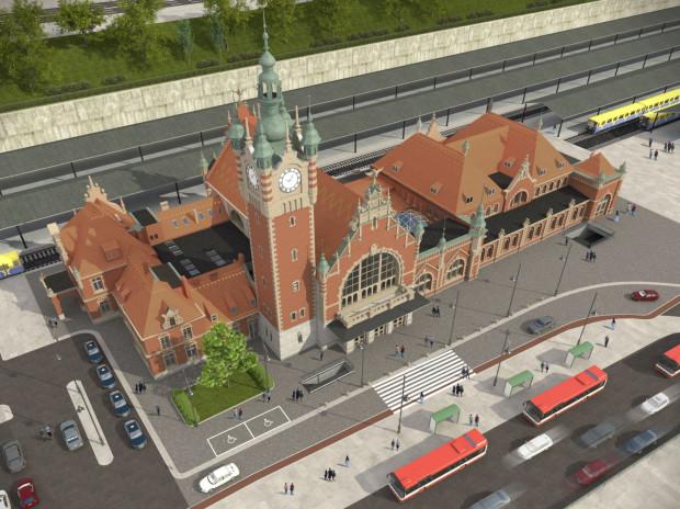 Tak po zakończeniu remontu ma wyglądać dach w północnym skrzydle dworca Gdańsk Główny.