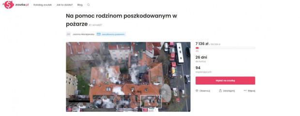 Dotychczas internetową zbiórkę wsparły 94 osoby. Cel wynosi 150 tys. zł.
