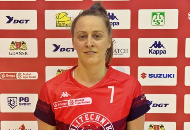 Maja Scekić w debiucie w drużynie DGT AZS Politechnika Gdańska grała ponad 24 minuty i zdobyła m.in. 8 punktów i 6 asyst.