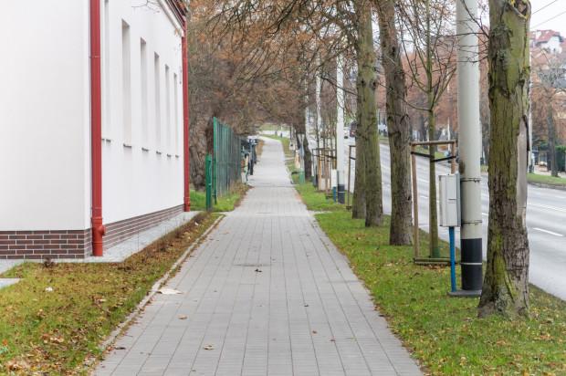 Społecznicy z Orłowa tłumaczą, że rowerzyści powinni jechać drugą stroną, gdzie jest więcej miejsca.