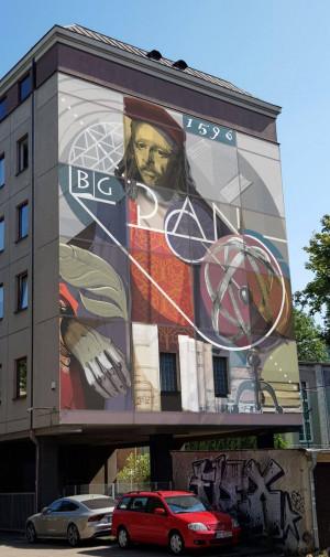 Wizualizacja muralu, który pojawi się na ścianie biblioteki przy ul. Wałowej 24.