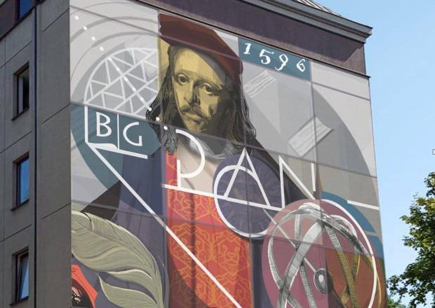 Mural zaprojektował Sebastian Bożek. To krakowski artysta oraz współprowadzący pracowni Malarstwa Architektonicznego w Instytucie Malarstwa i Edukacji Artystycznej UP w Krakowie.