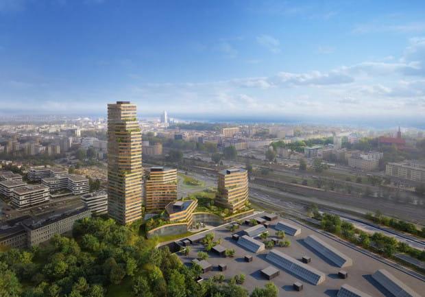 Konkursowa propozycja pracowni MVRDV z korzeniami w Rotterdamie została w konkursie wyróżniona.