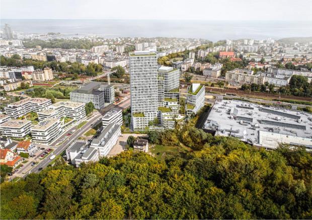 Propozycja pracowni APA Wojciechowski. To pracownia z Warszawy, która oddział ma również w Gdyni. Wyspecjalizowała się w projektach biurowców i parków biurowych.