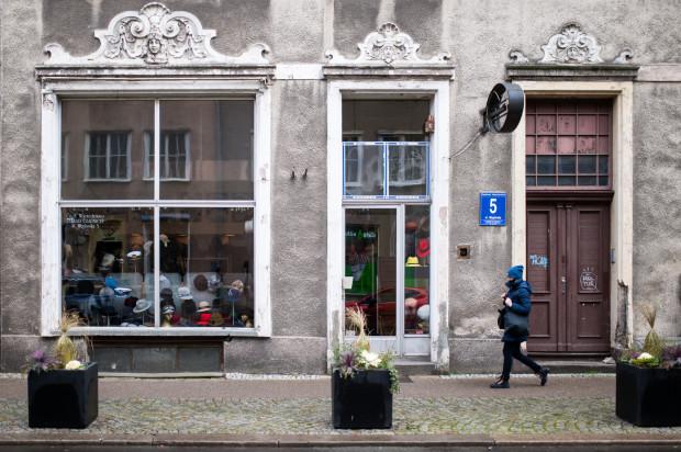 Sklep z kapeluszami w Gdańsku przy ul. Węglarskiej 5.