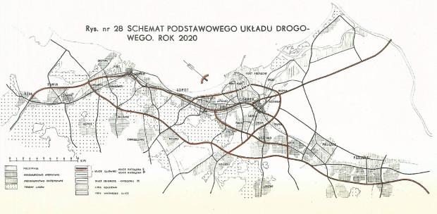 Schemat podstawowego układu drogowego planowanego do realizacji do 2020 r. Kliknij w grafikę, aby powiększyć.