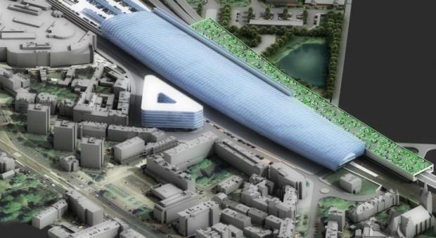 Wizja dworca przygotowana w 2010 r., która nie doczeka się realizacji.