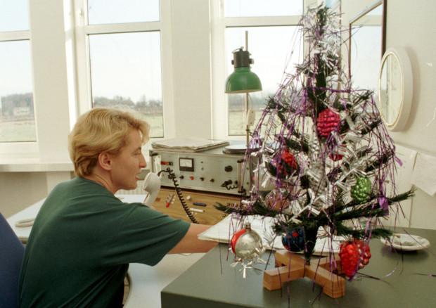Gdynia Radio było instytucją, która przez lata zapewniała kontakt głosowy polskim marynarzom z ich rodzinami w kraju. Zamilkło w 2003 r. Zdjęcie wykonane 26 grudnia 1997 r.