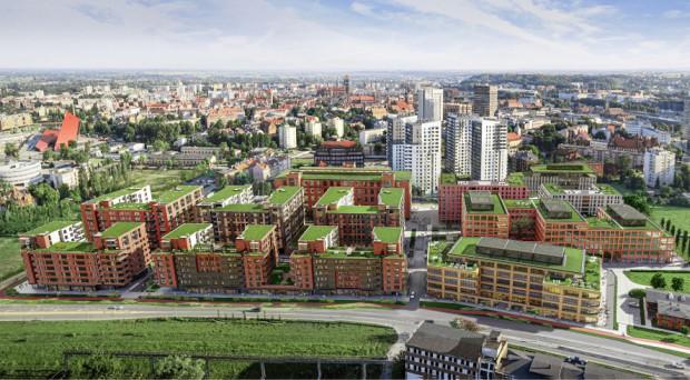 Wizualizacja nowej zabudowy mieszkaniowo-biurowej na Młodym Mieście.