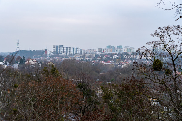 Widok z Pogańskiej Góry w kierunku Piecek-Migowa (Moreny).