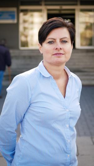Dr n. o zdr. Krystyna Paszko, dyrektor ds. Pielęgniarstwa i Organizacji Opieki w Szpitalu św. Wojciecha, konsultant wojewódzki w dziedzinie pielęgniarska epidemiologicznego.
