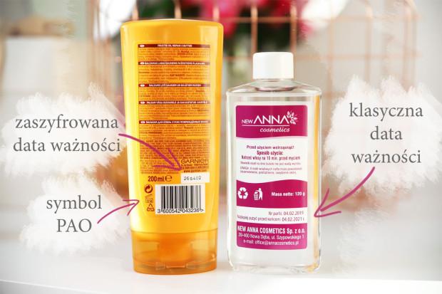 Na opakowaniach kosmetyków znajdziemy symbol PAO (znak otwartego słoiczka), klasyczną datę ważności albo kod.