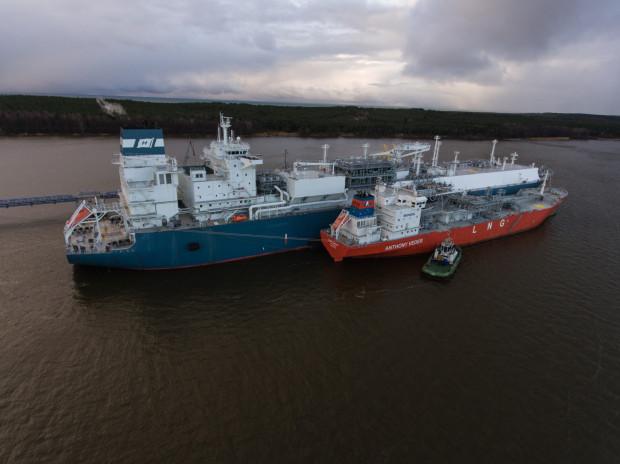 Pływający terminal LNG typu FSRU to statek regazyfikacyjno-magazynowy. Od 2015 r. pływający terminal FSRU działa w litewskim porcie Kłajpeda (na zdjęciu).