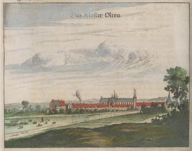 Panorama Oliwy z 1687 roku.