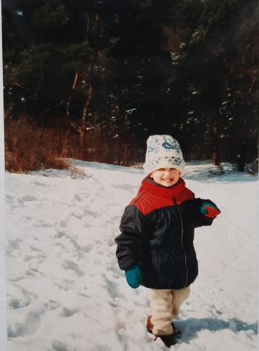 Wspominamy ferie zimowe sprzed lat. Na zdjęciu: czytelniczka Julia.
