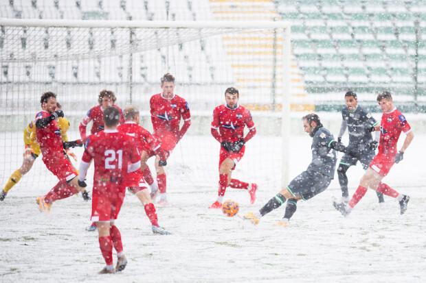 Flavio Paixao strzelił pierwszego gola w tegorocznych sparingach dla Lechii Gdańsk.