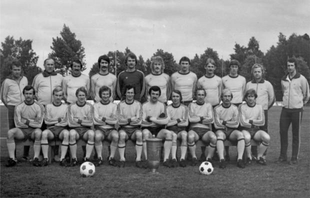 Arka Gdynia, zdobywcy Pucharu Polski z 1979 roku, Franciszek Bochentyn drugi z prawej w dolnym rzędzie.