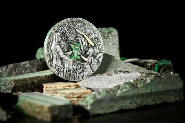 """Zwycięzca quizu otrzyma m.in. zestaw dwuuncjowych monet z serii """"Wiedźmin"""", czyli 5$ Ostatnie Życzenie + 5$ Miecz Przeznaczenia."""