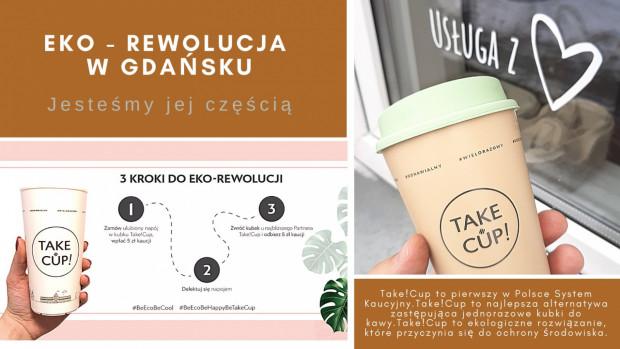 Celem akcji Take!Cup jest systematyczne eliminowanie szkodliwych dla środowiska jednorazowych kubków na rzecz trwałych i ekologicznych, bo wielorazowych naczyń wykonanych z polipropylenu.