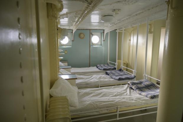Na żaglowcu jest nawet szpital, w którym leczyć można było do trzech pacjentów.