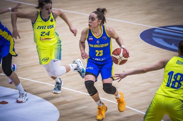 VBW Arka Gdynia pożegnała się z Euroligą. Mistrzynie Polski w sześciu meczach rundy zasadniczej rozgrywanych podczas turniejów w Stambule i Pradze nie odniosły ani jednej wygranej. Na zdjęciu Marissa Kastanek.