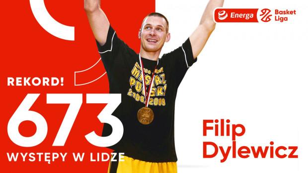 673 występy w Polskiej Lidze Koszykówki. Tyle wynosi rekord ustanowiony przez Filipa Dylewicza.