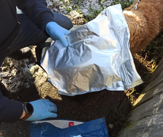 W obu interwencjach strażnikom granicznym towarzyszył pies przeszkolony w szukaniu narkotyków.
