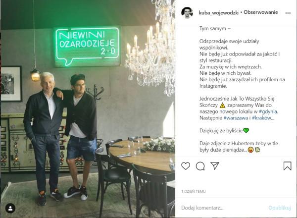 """Pierwsza restauracja """"Niewinni Czarodzieje"""" została otwarta w lipcu 2019 roku w warszawskiej Elektrowni Powiśle. Później powstał jeszcze jeden lokal w Warszawie oraz we Wrocławiu. W pierwszym kwartale 2021 roku restauracja Niewinni Czarodzieje 3.0. miała zadebiutować w Gdyni."""
