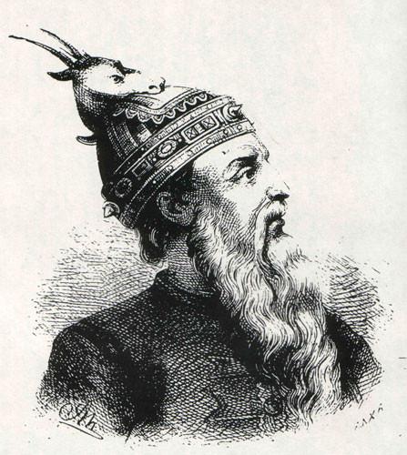 Grafika przedstawiająca Jerzego Kastriotę - Skanderbega.