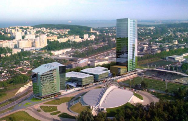 Pierwotnie w tym miejscu miał stanąć kompleks biurowy ze 120-metrową wieżą. Ostatecznie firma Nova investment wycofała się z tego projektu i odsprzedała grunty.