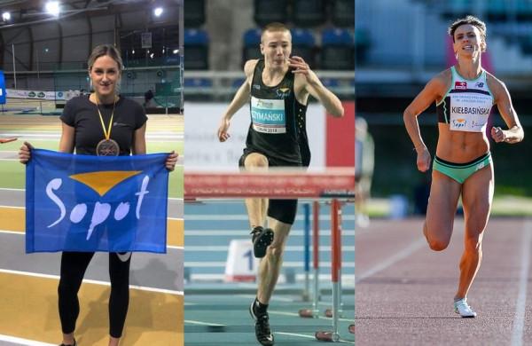 Ostatnie starty były udane dla trójmiejskich lekkoatletów. Od lewej: Paulina Ligarska, Jakub Szymański i Anna Kiełbasińska.