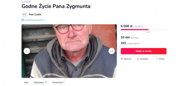 Zbiórka pieniędzy dla pana Zygmunta potrwa jeszcze 10 dni.