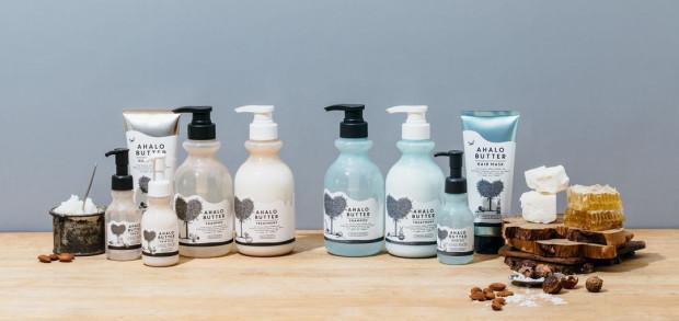 Japońskie linie Ahalo Butter opierają się na 6 różnych masłach i  olejkach botanicznych.
