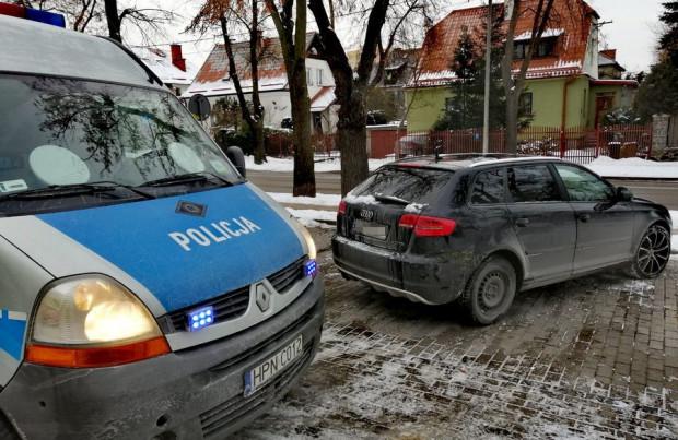 Auto jednego z zatrzymanych pijanych kierowców.